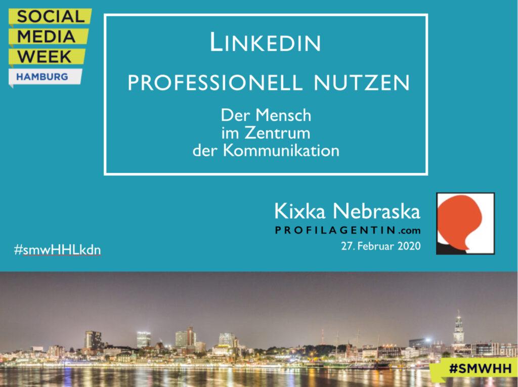 VortragsSlide des Linkedin-Vortrags der Profilagentin SMWHH2020
