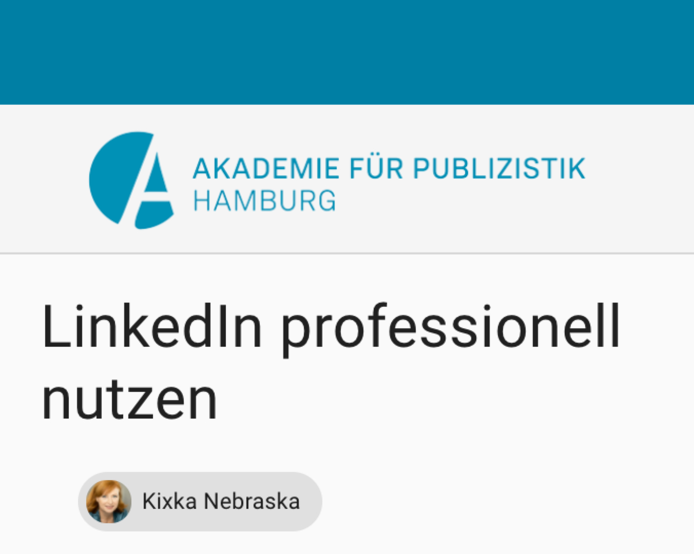 Wer einen umfassenden Überblick gewinnen möchte, um Linkedin professionell nutzen zu können, ist in diesem Ganztags-Seminar am 30.9.21 genau richtig!