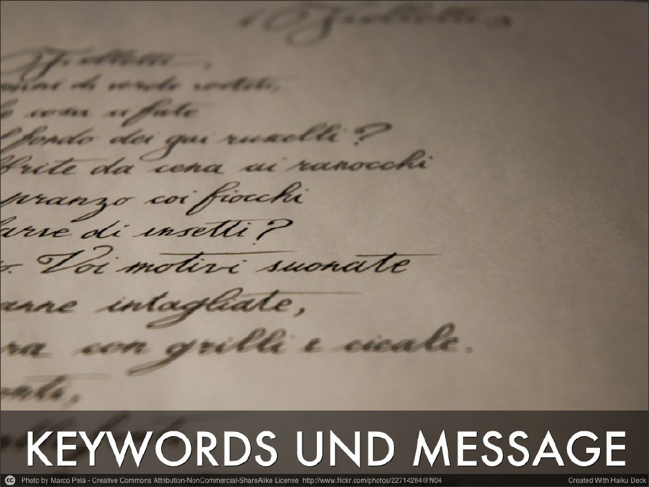 Keyword und Message