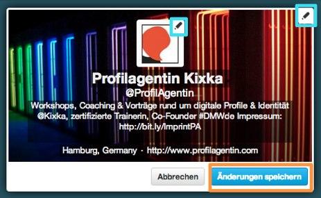 Profilagentin Kixka auf Twitter