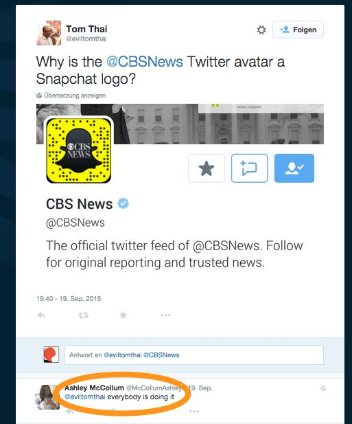 Snapcode @CBSNews Twitter avatar